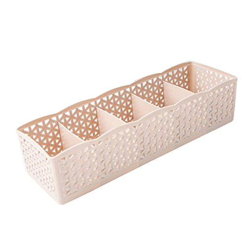 Collocation-Online Plastic Organizer Storage Box Tie Bra Socks Drawer Cosmetic Divider -