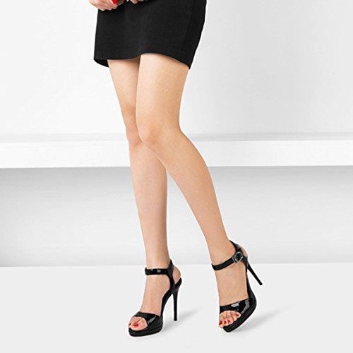 Chaussures Femmes D'honneur Talons De Pompes D'été Sexy Classique Mesdames Pointu Toe Black Mariage Toe Sandales Demoiselle Hauts Exposées FnrfF8a