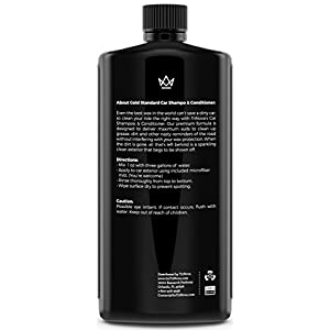 Car Wash Concentrate - Soap and Conditioner & Chenille Microfiber Glove Kit- Clean and Condition Truck or Vehicle Paint without Damaging Wax Protection - 18oz TriNova