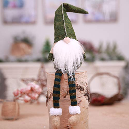 Colo-Go Lovely Standing Faceless Doll Wine Bottles Set Handmade Christmas Gnome Swedish Figurines Embroidery Old Mans Toys Christmas Decors,Holiday Decoration Gifts 3 Colors in 1)