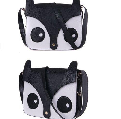 2015 De Femme Noir tout À Main Rétro sac En Forme Sac Fox Messenger Pour sac Fourre D'épaule Chouette oCxedBrW