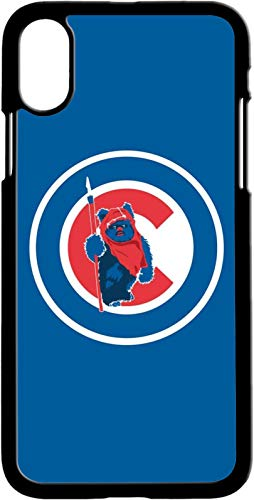 (Black TPU Phone Case,Ultra-Slim Profile Chicago Cub Phone Cover Compatible with iPhone (iPhone Xs Max) )