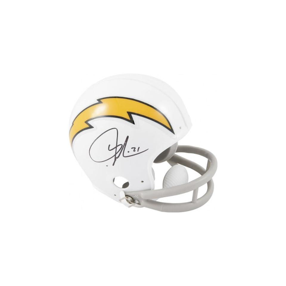 LaDainian Tomlinson San Diego Chargers Autographed White Riddell Mini Helmet
