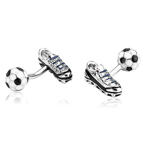 Epinki Men Stainless Steel Elegant decor Sports Football Shoes Black White - Tm Lewin Codes