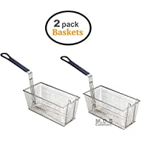 Baskets Frying 2 Deep Fryer Commercial Heavy Duty Stainless Steel Wired 13L x 6.5W x 6H