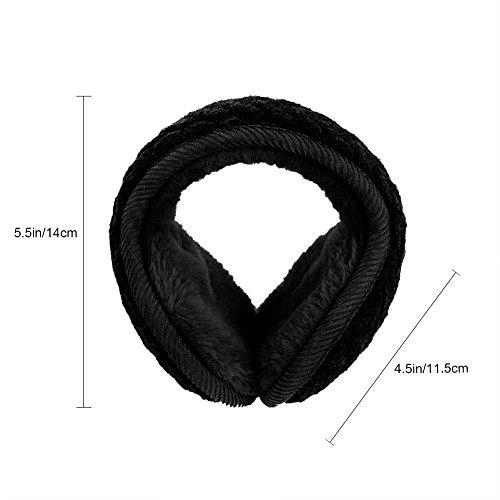 Vbiger Unisex Foldable Earmuffs Warm Knit Ear Warmers Men Women Fleece Winter EarMuffs