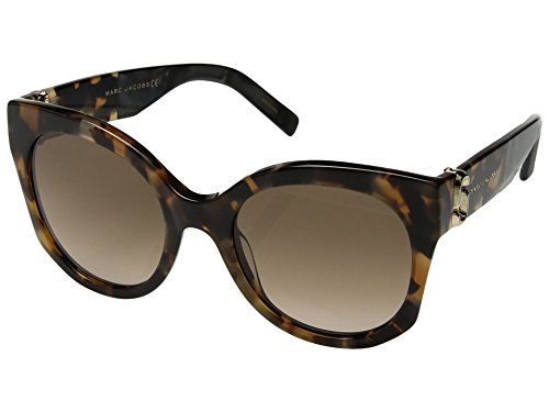 Marc Jacobs Women's MARC 247/S Dark Havana/Brown Gradient One - Marc Heart Sunglasses Jacobs