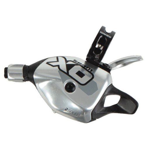 SRAM X0 Trigger Shifter for 10-Speed Systems, Silver, 2-Speed Front by SRAM