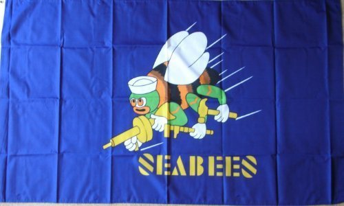 Naval Mobile - US Military Naval Mobile Construction Battalion (CB) The Seabees 5'x3' Flag by 1000 Flags