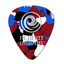 Planet Waves Multi-Color Celluloid Guitar Picks, 10 pack, Extra Heavy