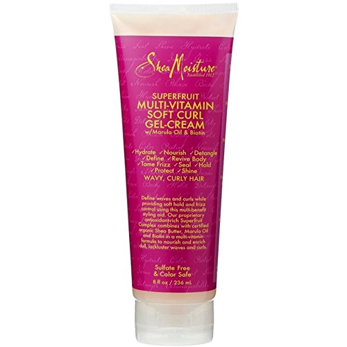Shea Moisture Multi-Vitamin Soft Curl Hair Gel-Cream, 8 Fluid Ounce