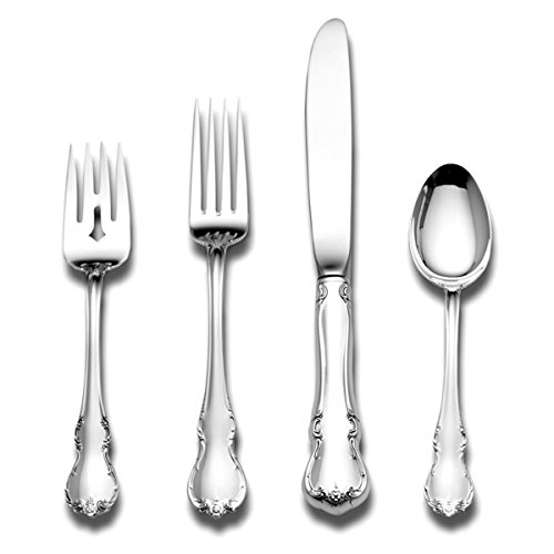 Christmas Tablescape Décor - French Provincial Sterling Silver 4-Piece Flatware Set, Service for 1