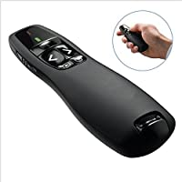 MUMUTIPS Wireless USB Presenter PowerPoint Remote Control Laser Pointer for PPT / Keynote / Prezi / Open Office / Windows / Mac OS / Android / Linux