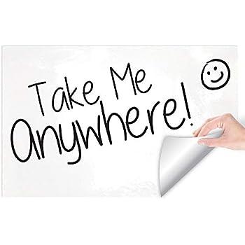 Writeyboard Premium Re-Stickable Dry Erase Whiteboard Foam Removable Wall Paper, White 1x1.5 Feet