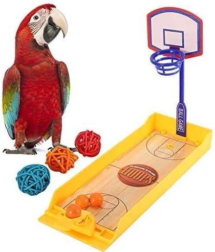 HEEPDD Juego de Juguetes de Baloncesto de Loros, Juegos de Entrenamiento de Inteligencia educativa para pájaros de Mascotas Juego de Mini Baloncesto Juego de Mesa de Loros Juguetes de masticación: Amazon.es: Productos