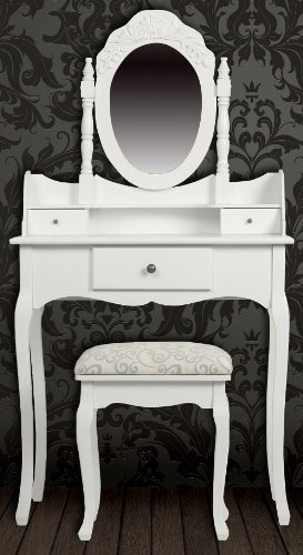 Attirant Shabby Chic Dressing Tables With Stool And Vanity Table Mirror Unit,  Bedroom Furniture At Great