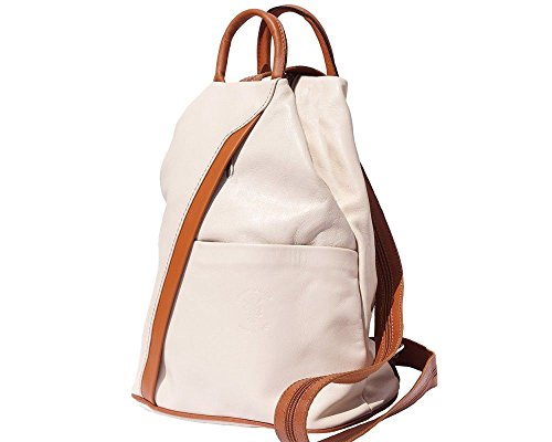Florence Leather 207 - Bolso mochila  para mujer negro, Bordeaux & Tan (multicolor) - 207 Beige & Tan