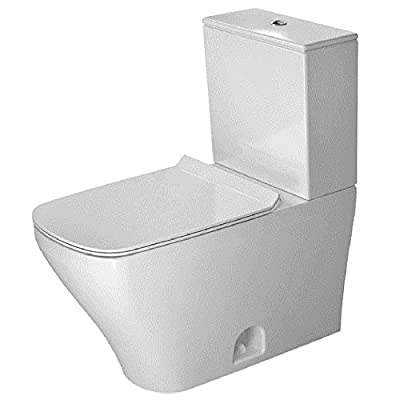 "Duravit 2160010000 Durastyle Two-Piece Toilet Bowl with 12"" Rough-In, 14 5/8"" x 27 1/2"", Dual Flush"