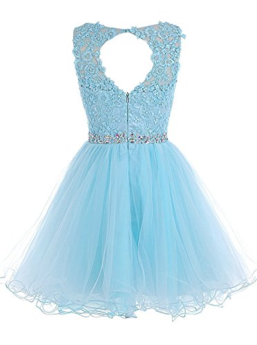 Women's Gowns Prom Homecoming Back Keyhole Lace Pe001 Crystals Dresses Beaded Short Black Pettus pdW6wqvg6