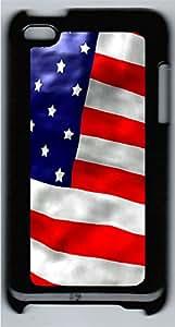 iPod 4 Case American Flags PC Custom iPod 4 Case Cover Black