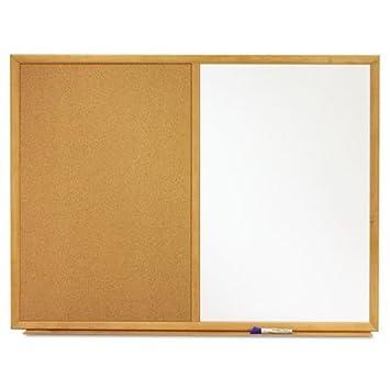 Combo Bulletin Board, pizarra/corcho de melamina, 36 x 24, marco de ...