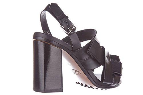 de en nuevo tacón piel negro Tod's sandalias mujer pxv8q86Z