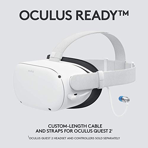Logitech G333 VR Gaming Earphones for Oculus Quest 2 – Oculus Ready – Custom-length Cable and Straps – Dual Driver Audio Designed for Gaming – Durable Aluminum Housing – Low-Latency 3.5 mm Aux 41q6uB0yV5L