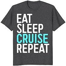 Eat Sleep Cruise Repeat T-Shirt Funny Holiday Vacation Gift