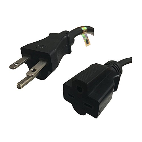 NEMA 6-15 Extension Power Cord - 25 Foot, 15A/250V, 14/3 AWG - Iron Box Part # IBX-6150-25