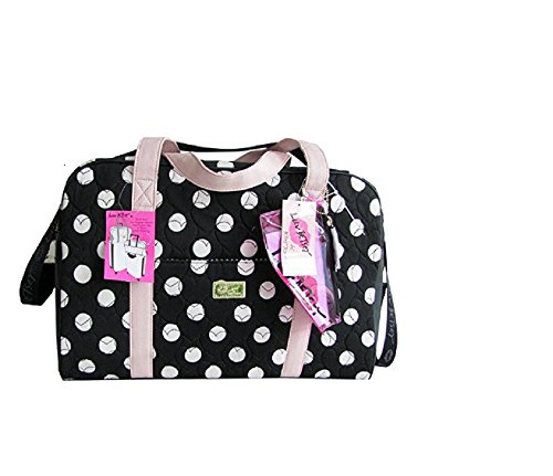 Betsey Johnson Luv Betsey Quilted Polka Dot Weekender Duffle Bag