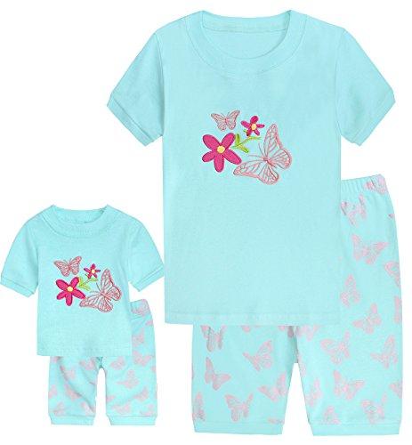 girls-matching-dolltoddler-butterfly-4-piece-short-cotton-pajamas-kids-clothes-size5