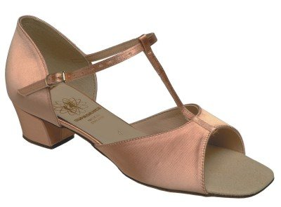 1007 Girls' Sandal in Flesh Satin by Supadance