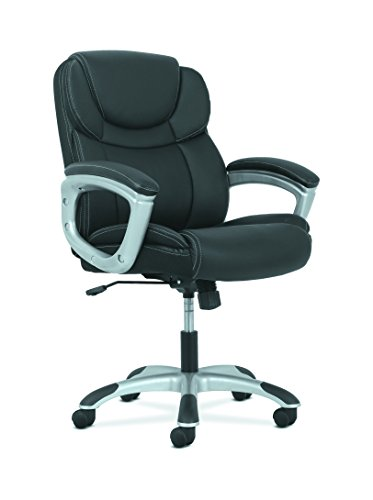 HON Sadie Leather Executive Computer/Office Chair with Arms – Ergonomic Swivel Chair (HVST306)