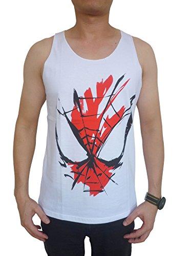 spider-man+tank+tops Products : TheLegendTshirt Men's Superhero Spiderman Tank Tops (Medium)