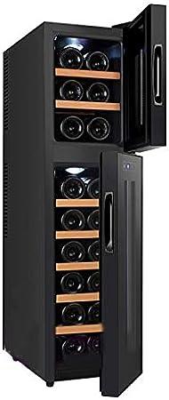 LMDH Refrigerador de Vino de la Zona Dual de Streamine, Cellizador de Nevera de Vino for hasta 18 Botellas (hasta 985 mm de Altura), refrigerador de vinos Independientes