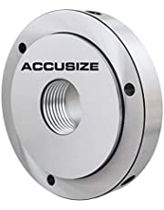 Accusize Industrial Tools 5 inch x 1-1/2 inch-8 Semi Finished Threaded Back Plate for Plain Back Lathe Chuck, 2600-5453
