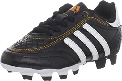 adidas Goletto III TRX FG Soccer Cleat (Toddler/Little Kid/Big Kid),Black/Running White/Bright Gold,10.5 M US Little Kid