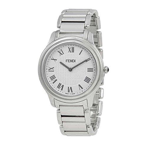 Fendi Men's F251014000 Classico Analog Display Quartz Silver - Watches Men Fendi