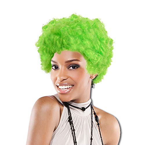 One Green Team Spirit Afro Wig -