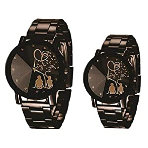 Shree Analog Black dial Couple Watch for Men and Women – SHREE-4869