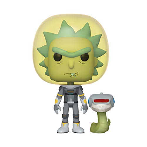 Funko- Pop Animation Rick & Morty-Space Suit Rick w/Snake and Morty Collectible Toy, Multicolor (45434)