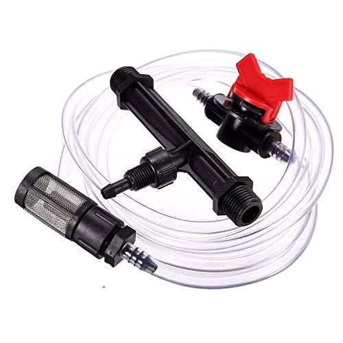 Samoda Brass Nozzle Water - Fertilizing System Injector 3/4 Irrigation Automatic Fertilizer Water with Connector Garden Hose Reels (System Nozzle Injector)