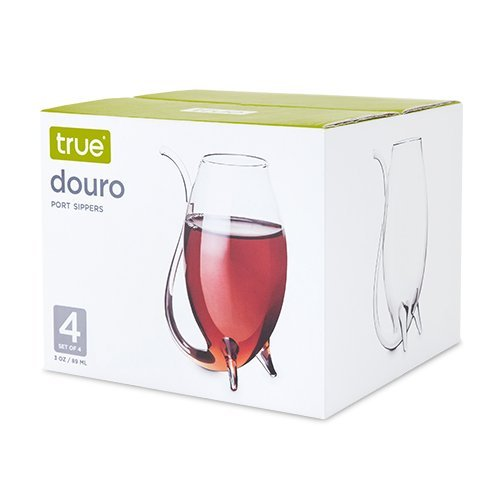 Insulated Drinking Glasses, Douro 3oz Port Sippers Drink Glasses Set, Set Of 4 (Sold by Case, Pack of 6)