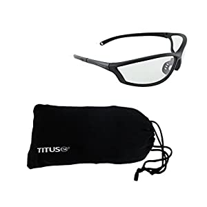 Titus G26 Competition Range Glasses - Sports Riders Safety Glasses (Standard, W/ Pouch)
