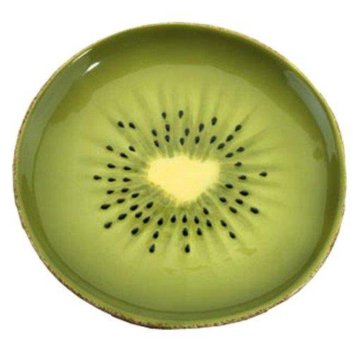 SUMMIT BY WHITE MOUNTAIN Kiwi Plate Collectible Fruit Ceramic Glass Kitchen Platter Dish