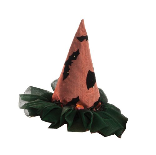 Rubie's Costume Womens Mini Two Tone Witch Hat, Orange/Black, One Size (Black Sequin Witch Costume)