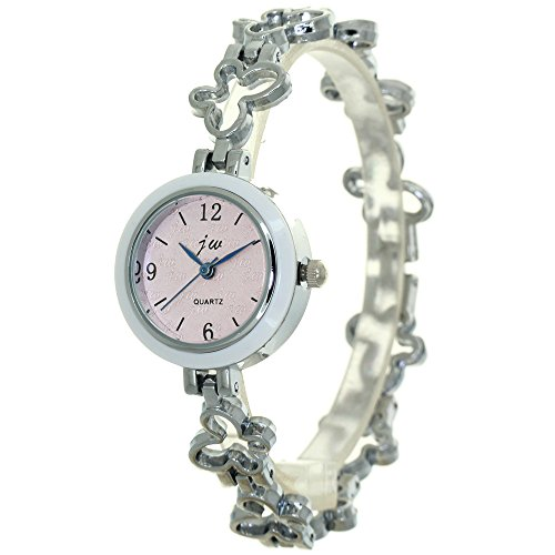 Hollow Butterfly Chain Jewelry Watch Band Fashion Lady Women Stainless Steel Quartz Analogue Wristwatch