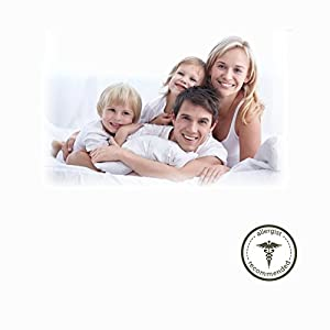 """AllerEase 100% Cotton Allergy Protection Body Pillow – Breathable Body Pillow, Hypoallergenic Fiber Fill, Prevents Buildup of Dust Mites and Other Household Allergens, Allergist Recommended, 20"""" x 54"""""""