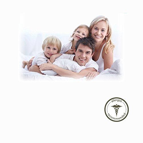 "AllerEase 100% Cotton Allergy Protection Medium Density Body Pillow, 20"" x 54"", White"