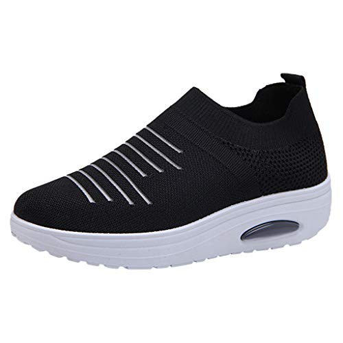 Respctful✿Women's Slip-On Mesh Athletic Walking Shoes Casual Knit